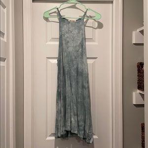 Billabong sage tie dye above the knee dress